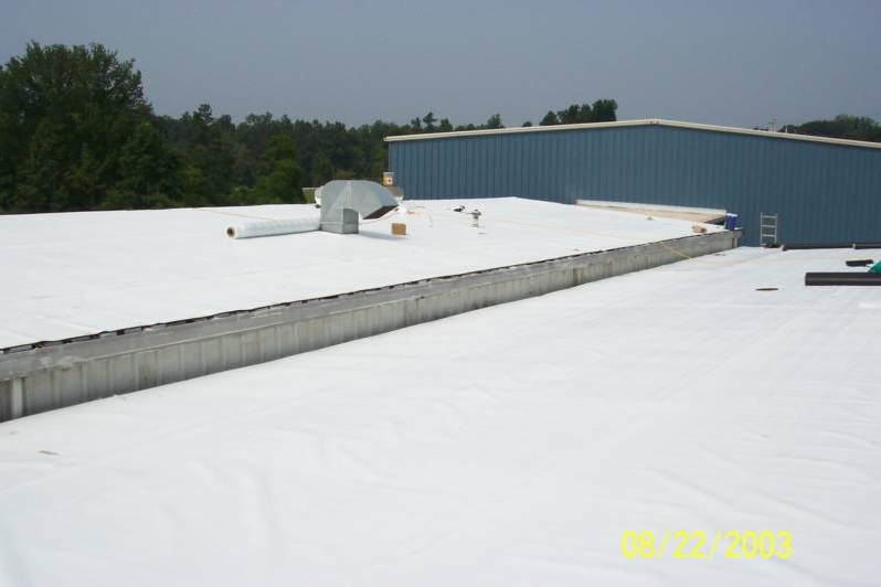 Flat Roofs. TPO Roofing Systems